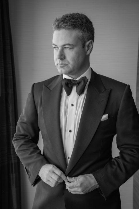 groom black and white