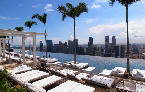 Sands skypark marina bay sands the art of engineering - Marina mandarin singapore swimming pool ...