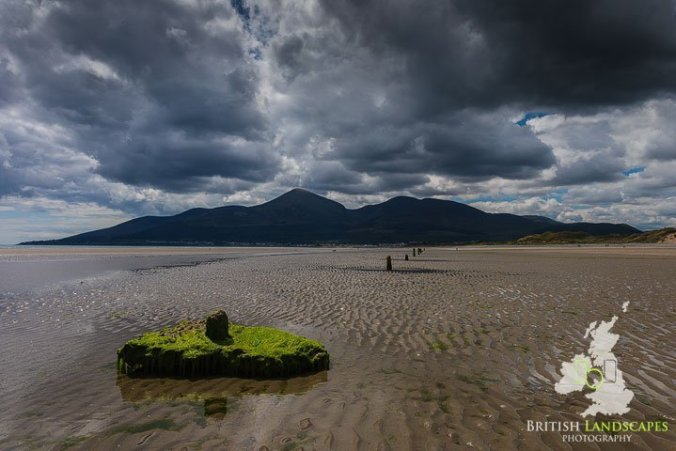 The silhuoette of the Mourne Mountains seven from Murlough Beach