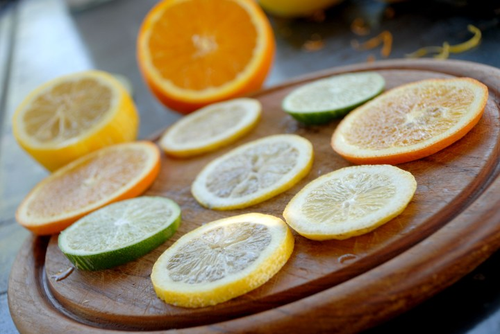 lemon, lime, orange slices