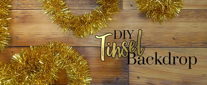 DIY Tinsel Backdrop