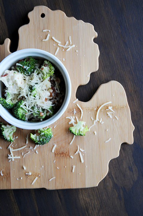 Broccoli Cauliflower Salad On Michigan Breadboard