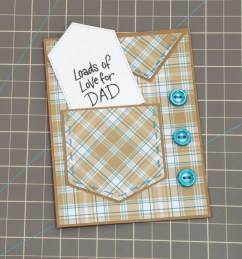 DIY Father's Day card with gift card holder.