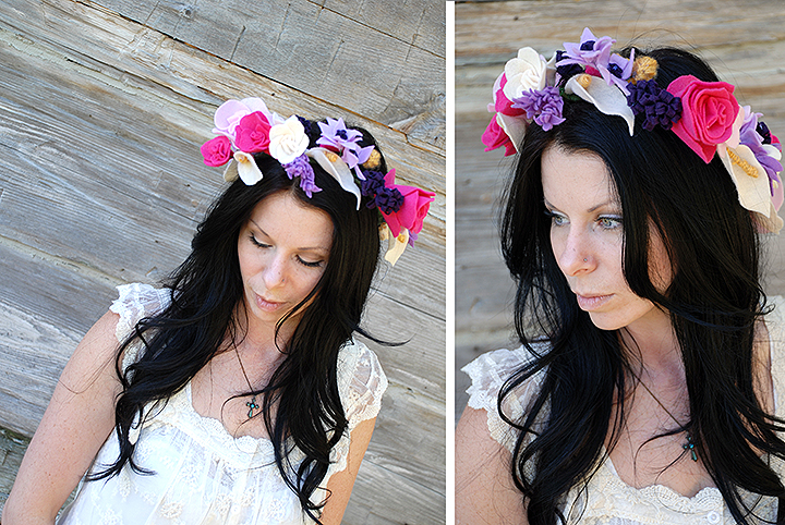 Bronner's Felt Flower Crown DIY