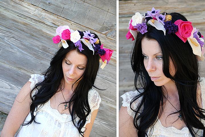 Bronner's Felt Flower Crown DIY