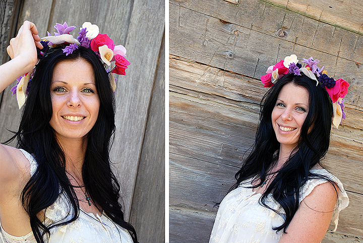 Bronner's Felt Flower Crown Tutorial