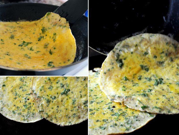Fresh Parsley Egg Omelettes