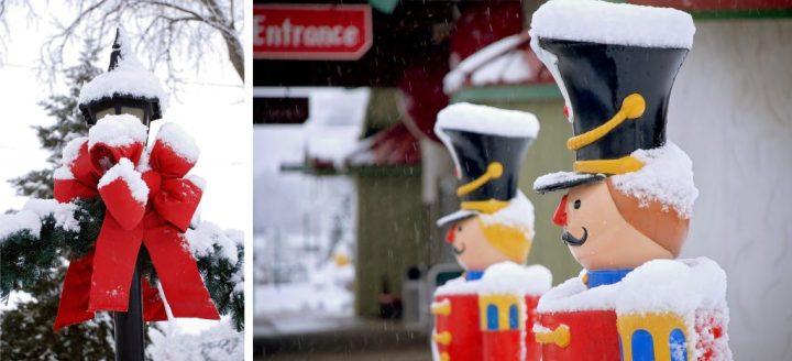 Bronners Christmas Wonderland's Displays In Snow