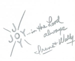 Wally Bronner's JOY Cross Signature