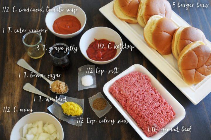 Bronner's Sloppy Joe Recipe Ingredients