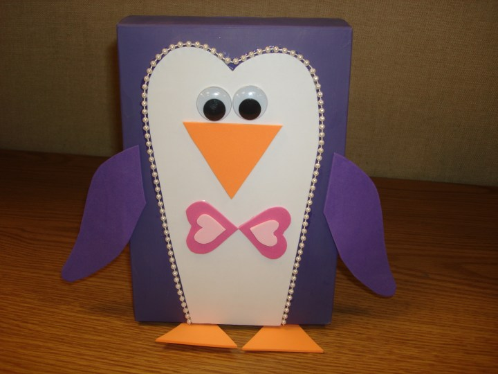 Penguin Valentine Card Box