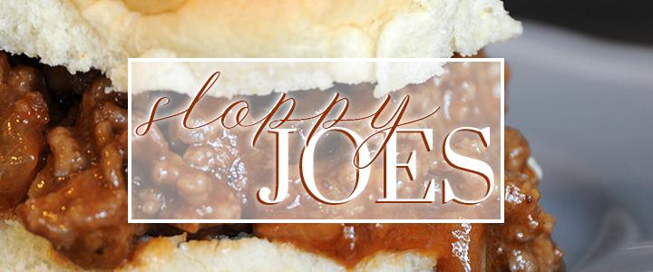 Sensational Sloppy Joes Recipe