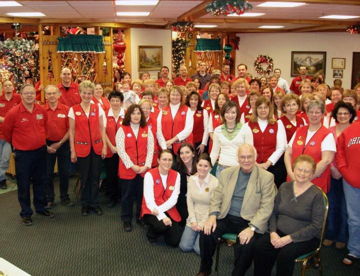 Staff celebrate Wally and Irene's 80th Birthday