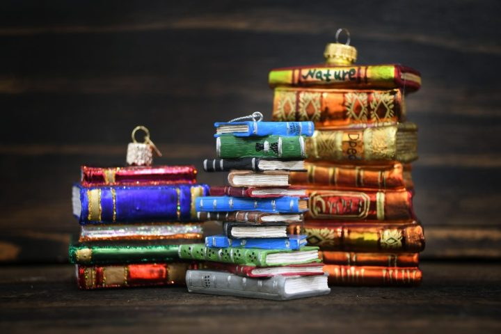 Book Stacks, Ornaments From Bronner's Christmas Wonderland For Bookworms!