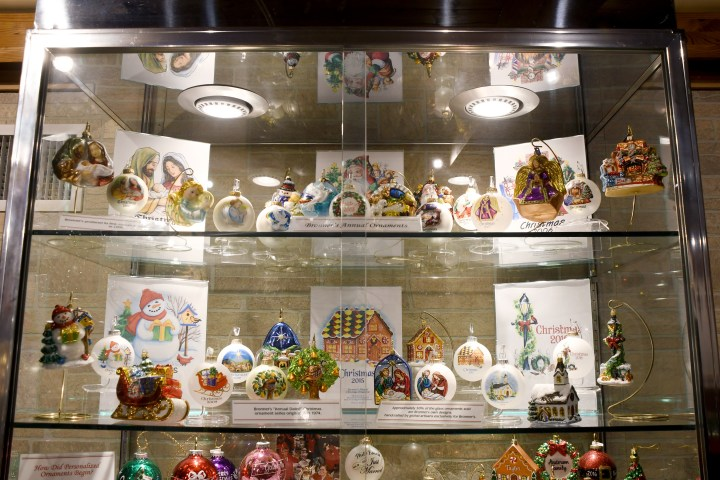 Part Of Bronner's Annual Ornament Collection On Display In The Program Center.