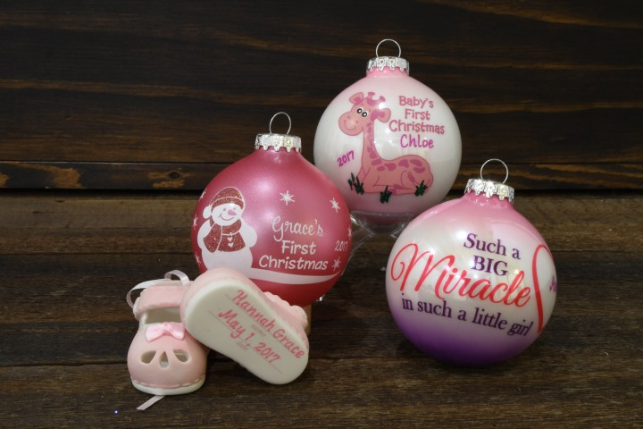 Baby Girl Ornaments From Bronner's.