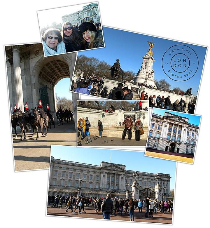 Mounted Guard And Buckingham Palace, London England
