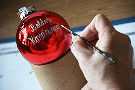 Personalized Hand-Painted Ornament At Bronner's Christmas Wonderland