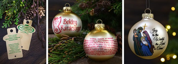 Bronner's Christmas Wonderland Exclusive Ornaments Made In Hungary