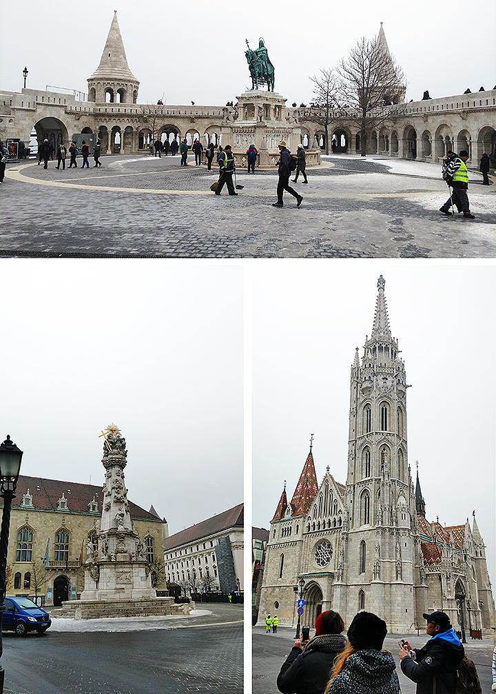 Fisherman's Bastion and Matthias Church In Buda's Castle District, Budapest, Hungary.