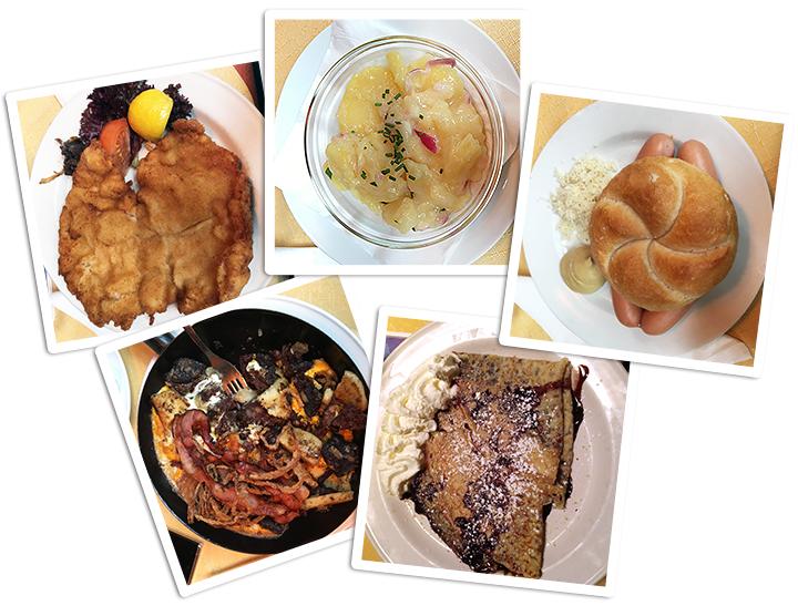 Austrian Dishes From Gasthaus Orlik In Vienna