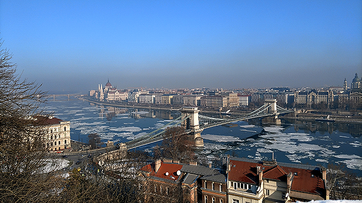 Ice On The Danube River