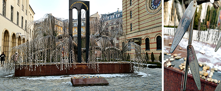 Weeping Willow Tree Memorial At The Hungarian Jewish Museum In Budapest, Hungary