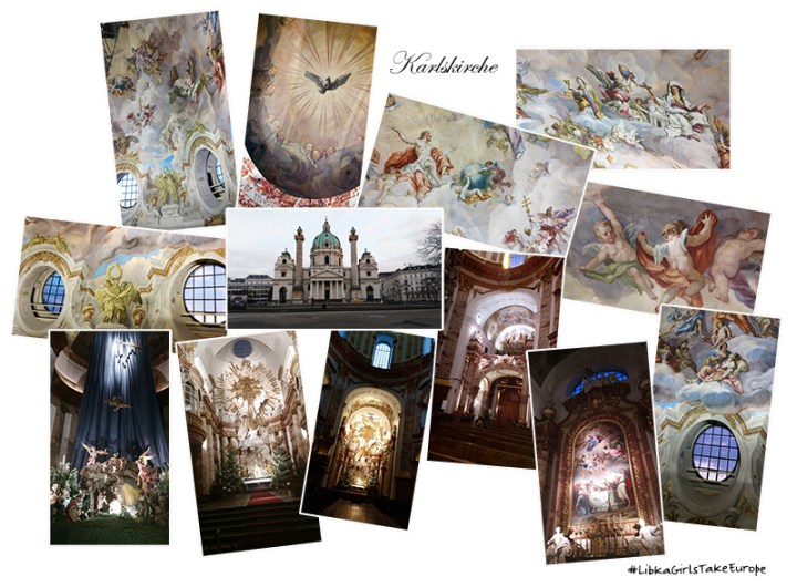 Beautiful Architecture, Alter And Frescoes In Karlskirche, Vienna Austria