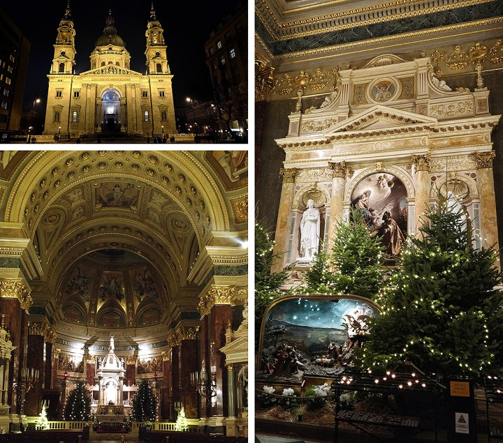 St. Stephen's Basilica At Christmas In Budapest Hungary.