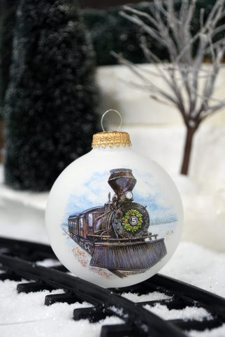 Personalized Train Ornament from Bronner's
