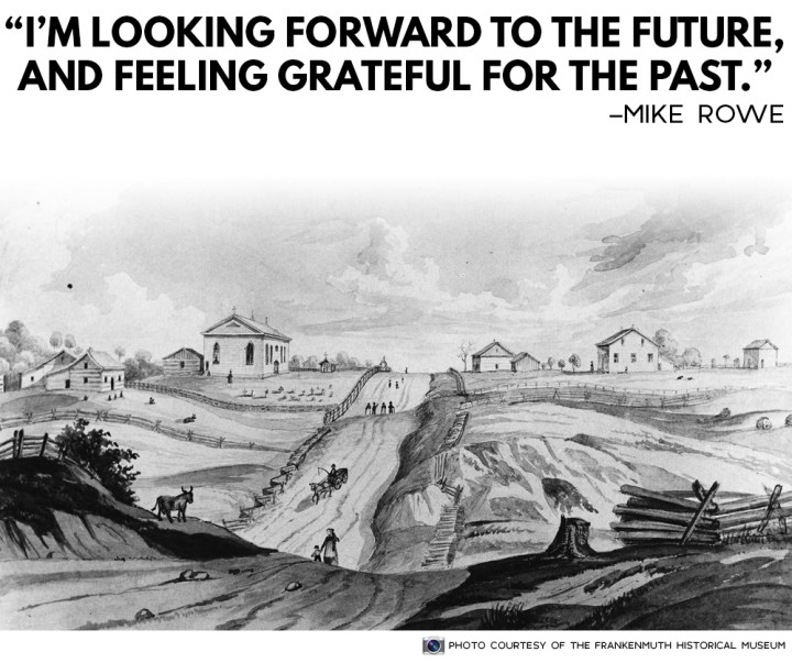I'm Looking Forward To The Future, And Feeling Grateful For The Past. Mike Rowe Quote.