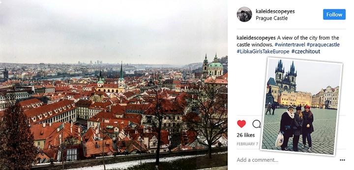 Prague Castle Window View Of The City, Czech Republic.