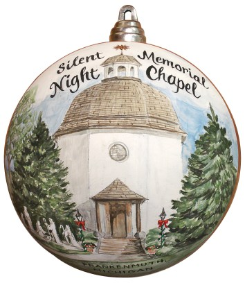 Hand-Painted Silent Night Chapel Ornament, custom painted for the White House in 2008 by Bronner's artist Connie Larsen.