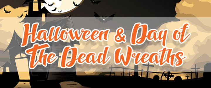 Wreaths to Decorate your Home for Halloween & Day of The Dead