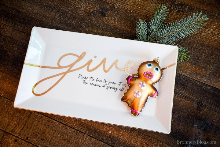 Give Serving Plate And Gingerbread With Bites Ornament From Bronner's Christmas Wonderland