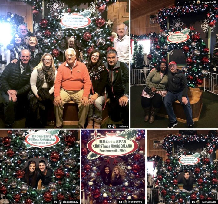 Bronner's Christmas Wonderland's Giant Wreath Makes A Merry Photo Op!