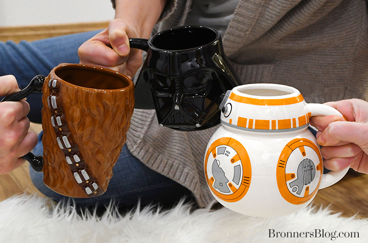 Star Wars character coffee mugs
