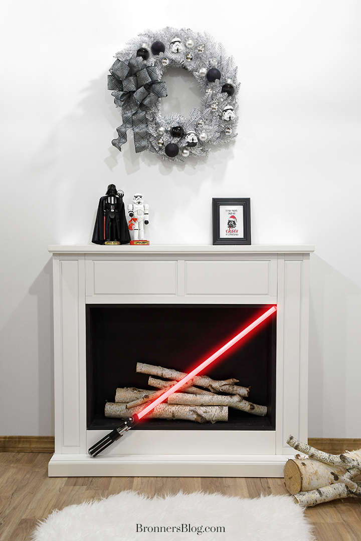 Star Wars Empire Christmas mantle decor