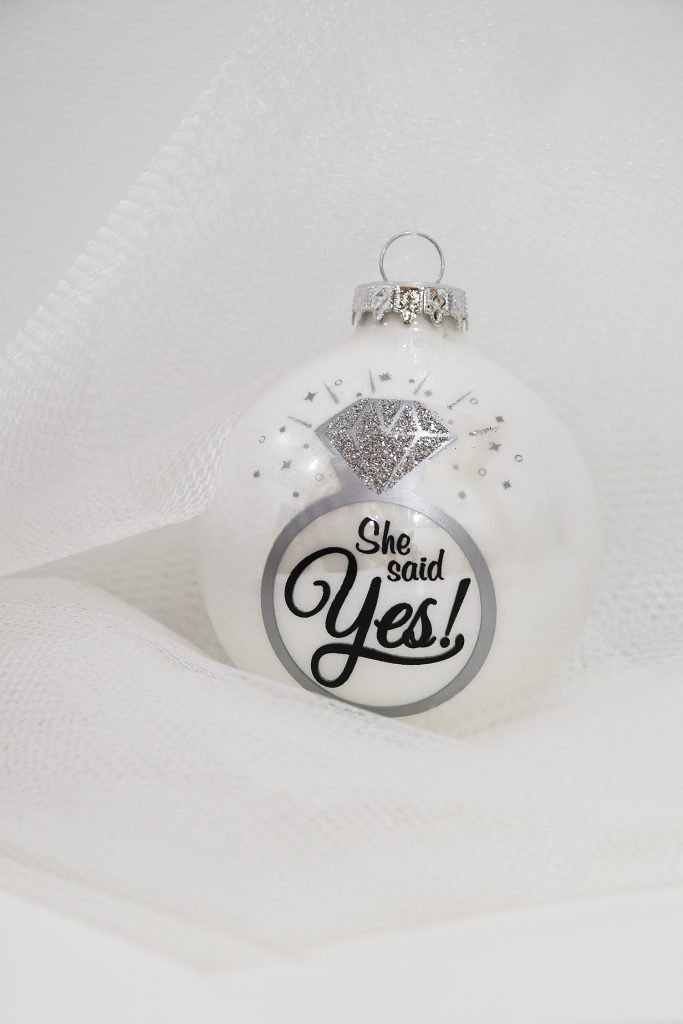 She Said Yes Engagement Ornament From Bronner's