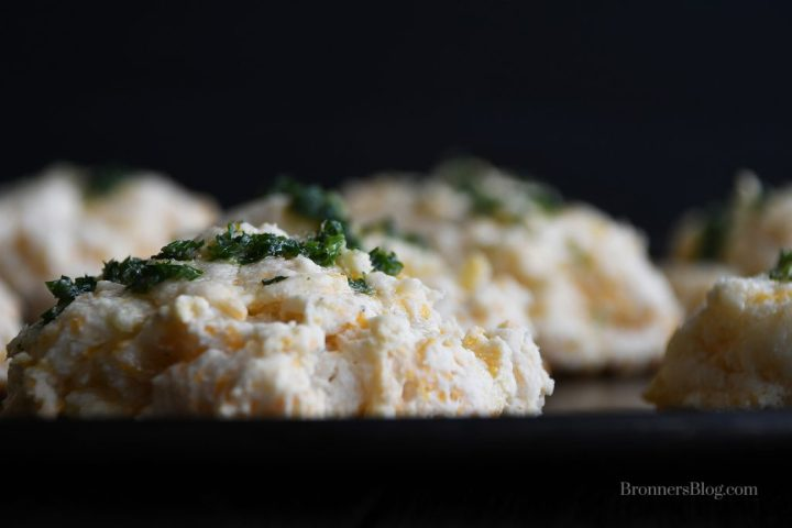 Cheesy Garlic Biscuits Loaded With Butter And Fresh Parsley.