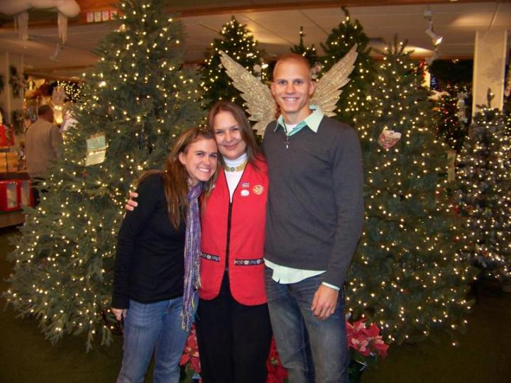 Engaged At Bronner's Christmas Wonderland In Frankenmuth, Michigan