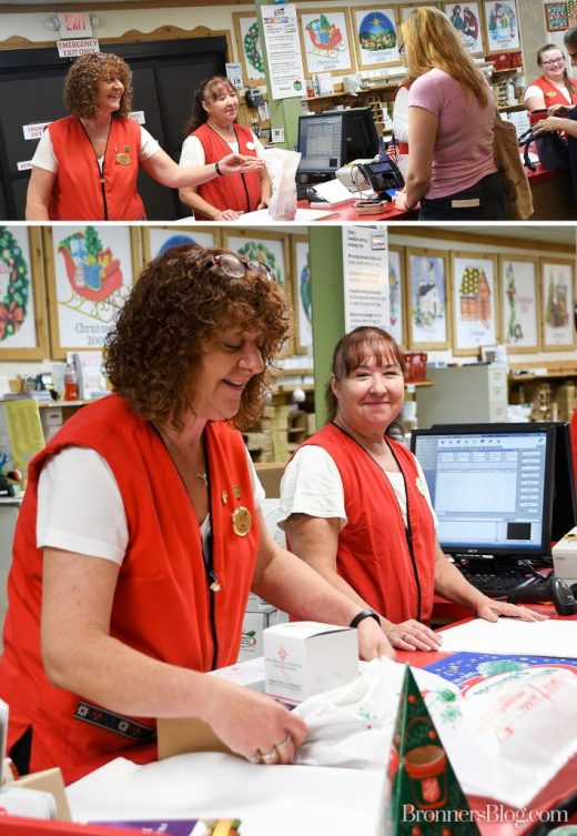 Bronner's Cashiers And Packers Carefully Wrap Guests Purchases For Travel As They Checkout.