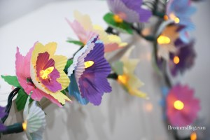 DIY Cupcake Wrapper Flower Lights