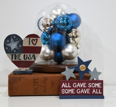 "I Love The USA and ""All Gave Some Some Gave All"" Home Decor"