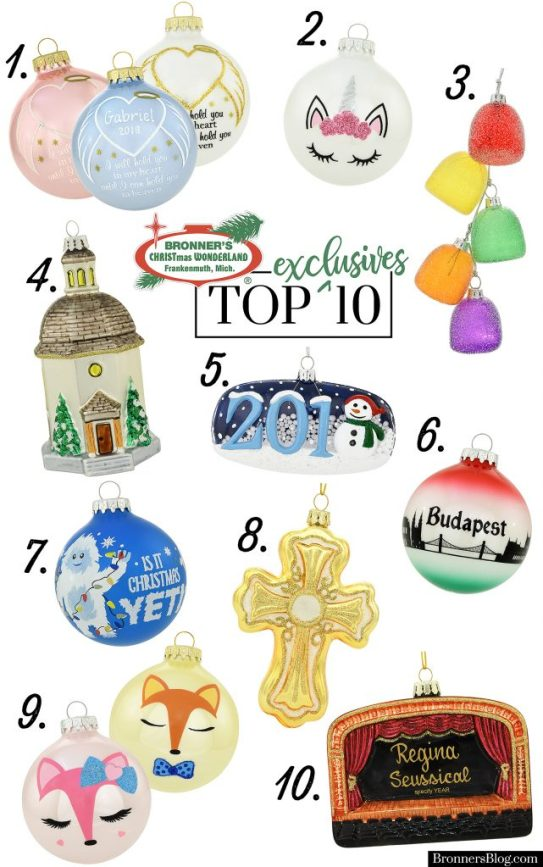 Ten New Exclusive Glass Ornament Designs To Bronner's Christmas Wonderland In 2018