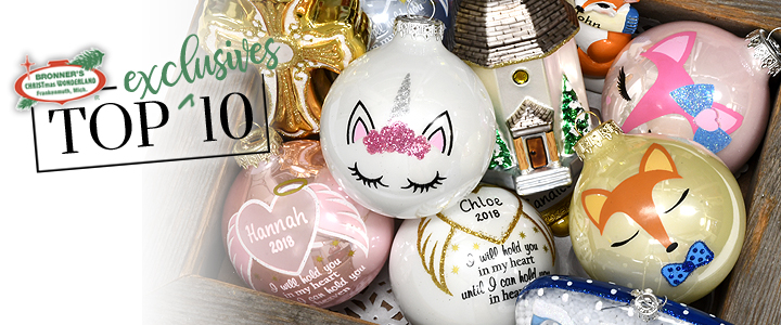 Bronner's Top 10 Exclusive Ornament Designs for 2018