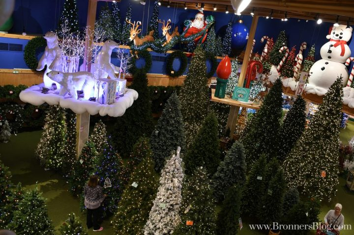Bronner's Artificial Christmas Tree forest