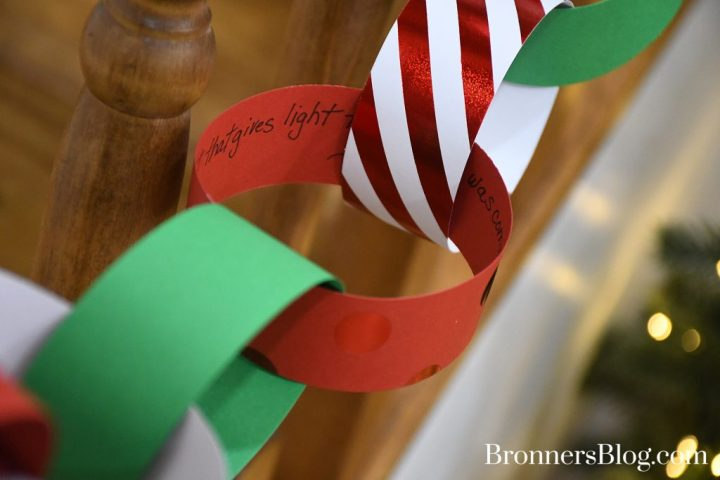 DIY Paper-Link Chain Garland Countdown To Christmas With Bible Verses Or Good Deeds