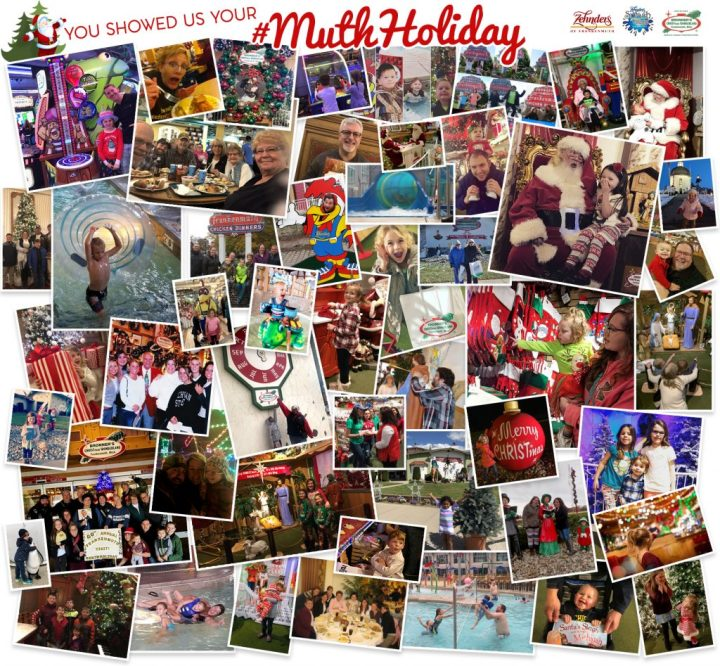 Entries from the #MuthHoliday Photo Contest by Bronner's Christmas Wonderland and Zehnder's Restaurant and Splash Village Waterpark In Frankenmuth, MI
