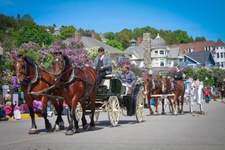 Mackinac Island's Lilac Festival Grand Parade.